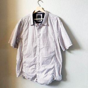 PrAna White Casual Button Down Short Sleeve Shirt